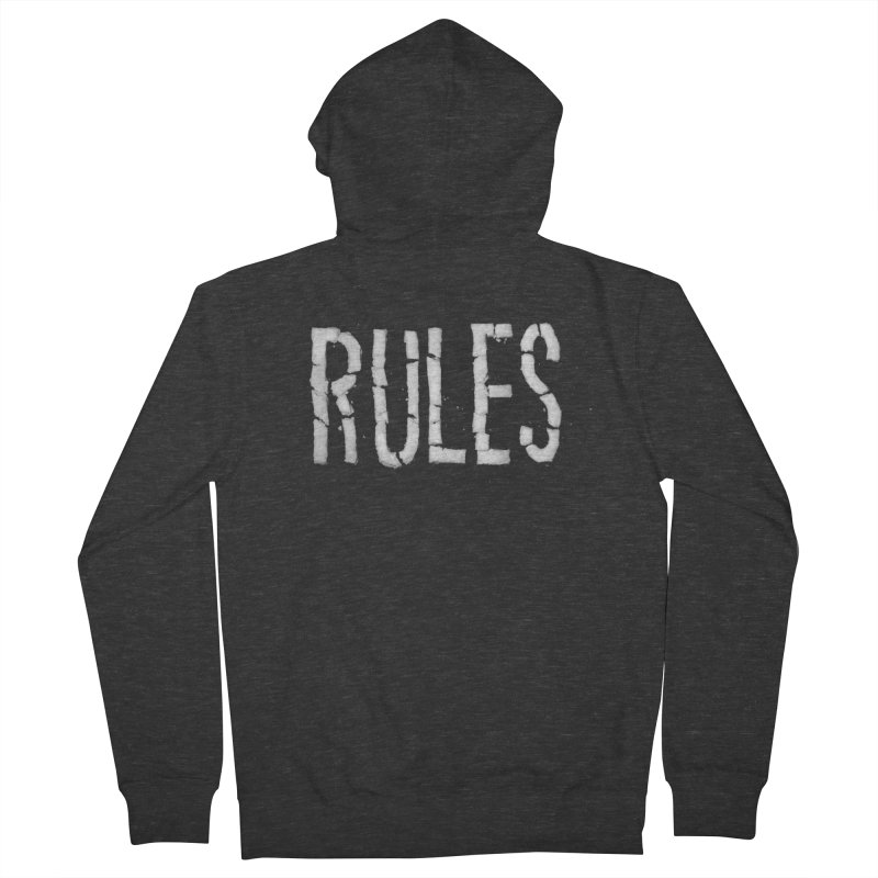 Broken Rules Men's Zip-Up Hoody by dayswideawake
