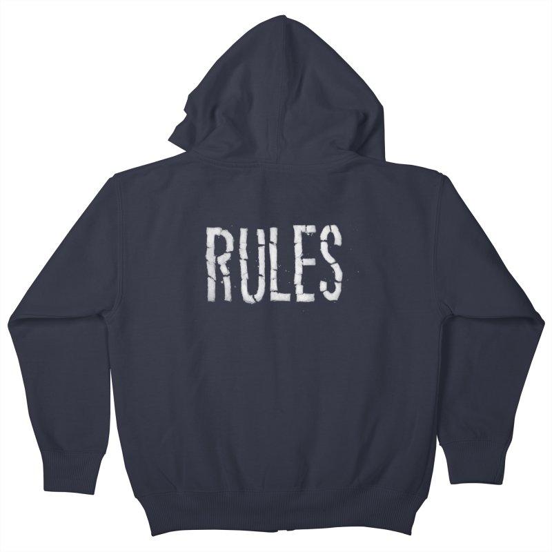 Broken Rules Kids Zip-Up Hoody by dayswideawake
