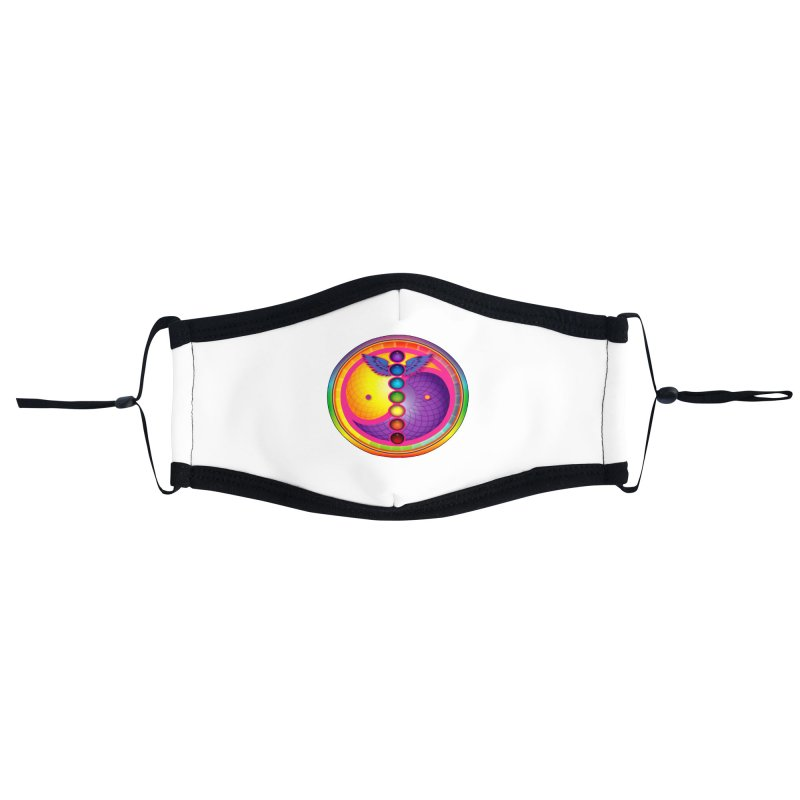 Colorful Chakra Mandala Accessories Face Mask by DB Stevens' Shop