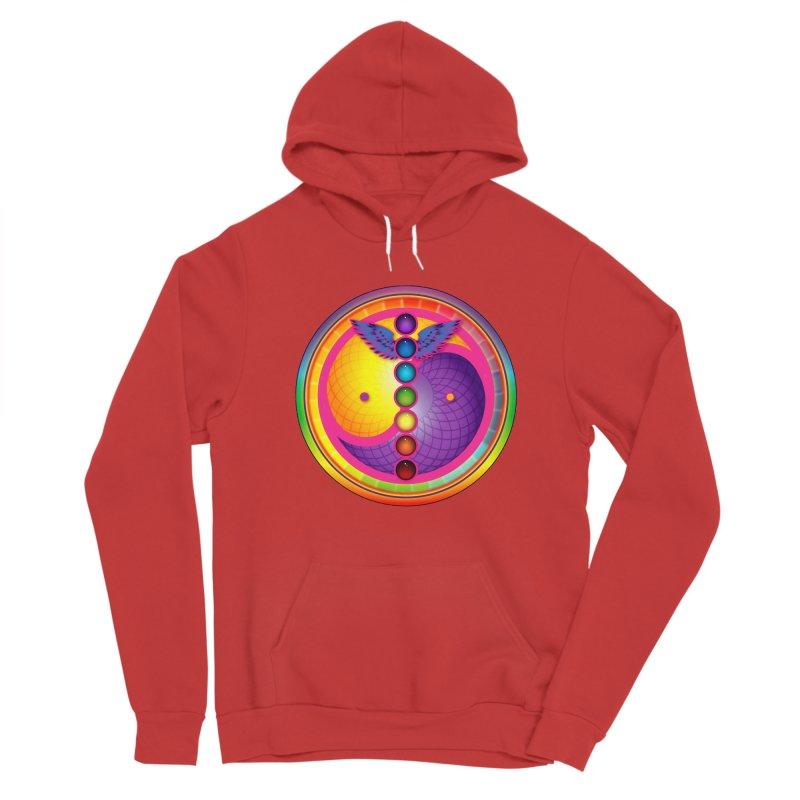 Colorful Chakra Mandala Men's Pullover Hoody by DB Stevens' Shop
