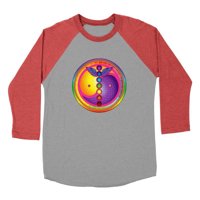 Colorful Chakra Mandala Men's Longsleeve T-Shirt by DB Stevens' Shop
