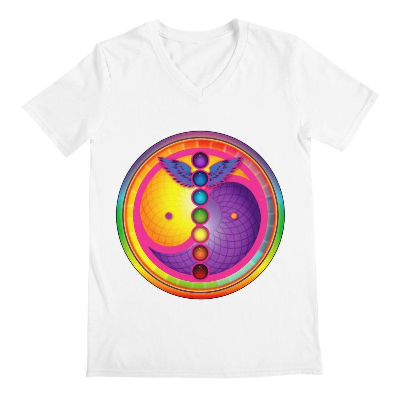 Colorful Chakra Mandala Men's V-Neck by DB Stevens' Shop