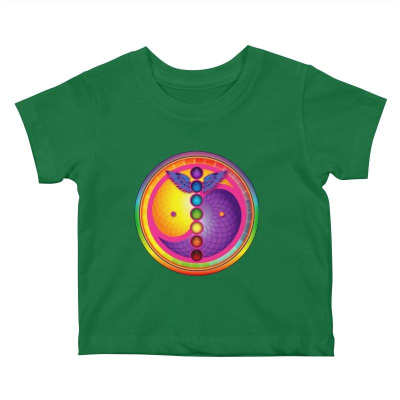 Colorful Chakra Mandala Kids Baby T-Shirt by DB Stevens' Shop
