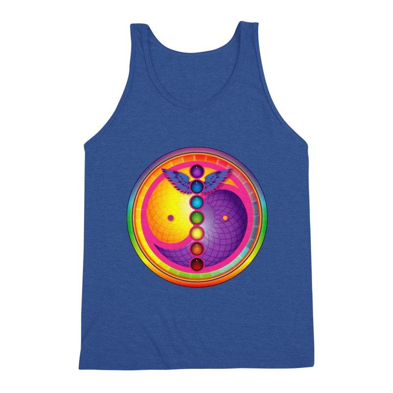 Colorful Chakra Mandala Men's Tank by DB Stevens' Shop