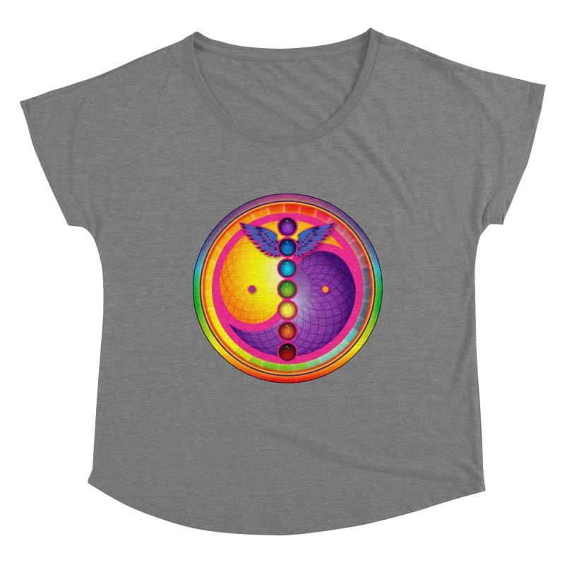 Colorful Chakra Mandala Women's Scoop Neck by DB Stevens' Shop