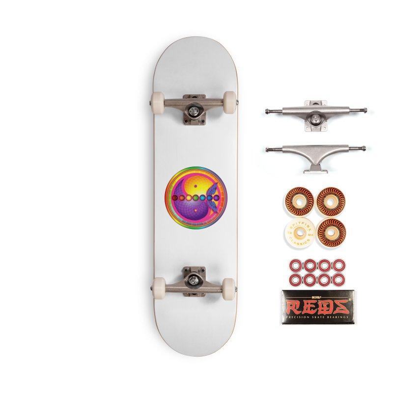 Colorful Chakra Mandala Accessories Skateboard by DB Stevens' Shop