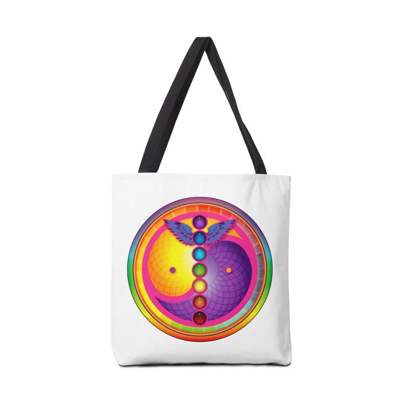 Colorful Chakra Mandala Accessories Bag by DB Stevens' Shop