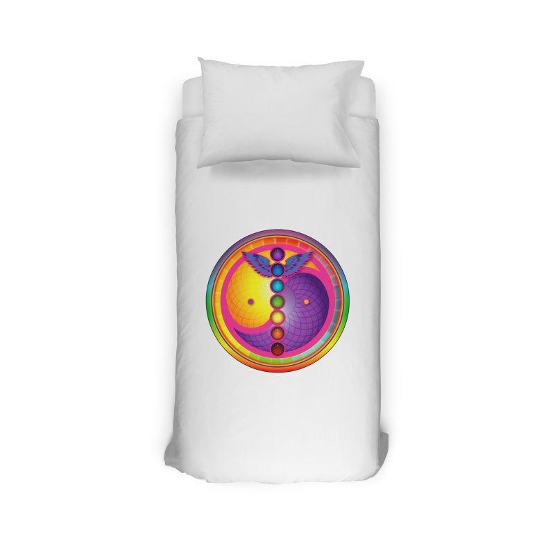 Colorful Chakra Mandala Home Duvet by DB Stevens' Shop