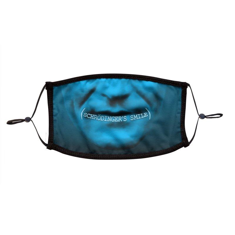 Schrödinger's Smile Face Mask - Visual Pun Accessories Face Mask by DB Stevens' Shop