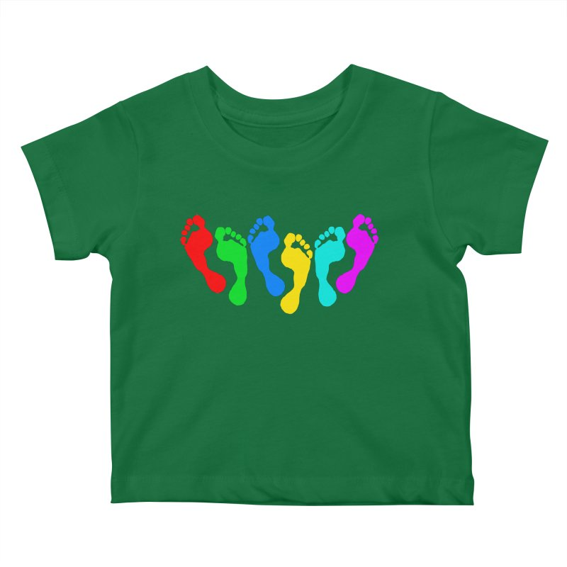 6 FEET Social Distancing Reminder on White Kids Baby T-Shirt by DB Stevens' Shop