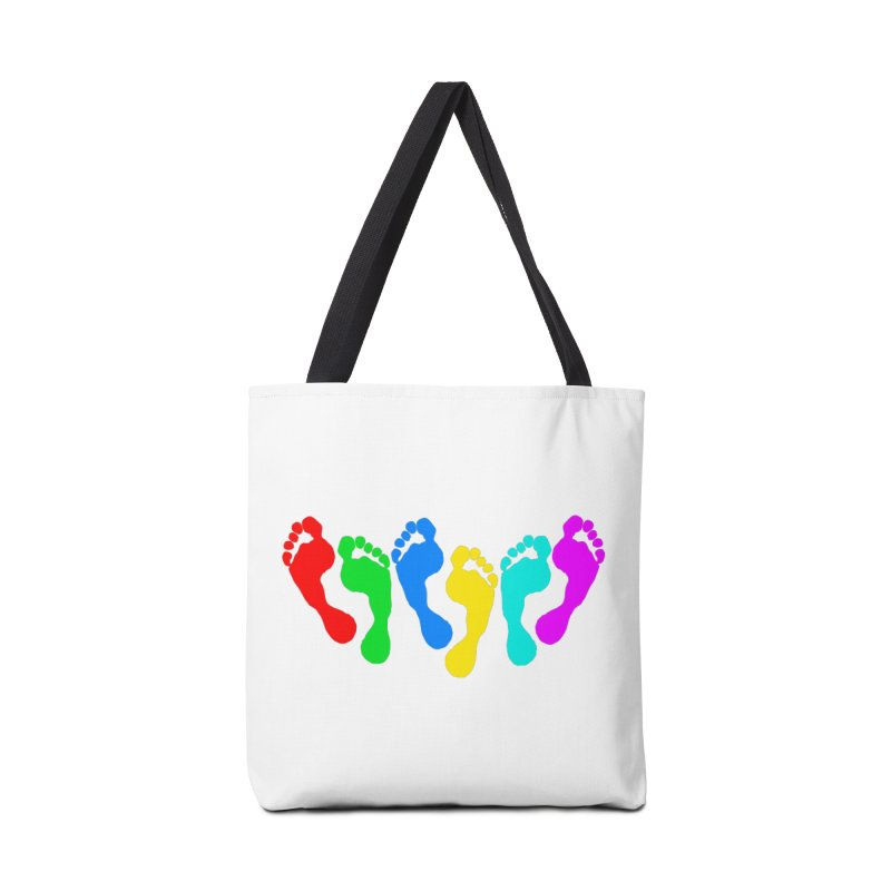 6 FEET Social Distancing Reminder on White Accessories Bag by DB Stevens' Shop