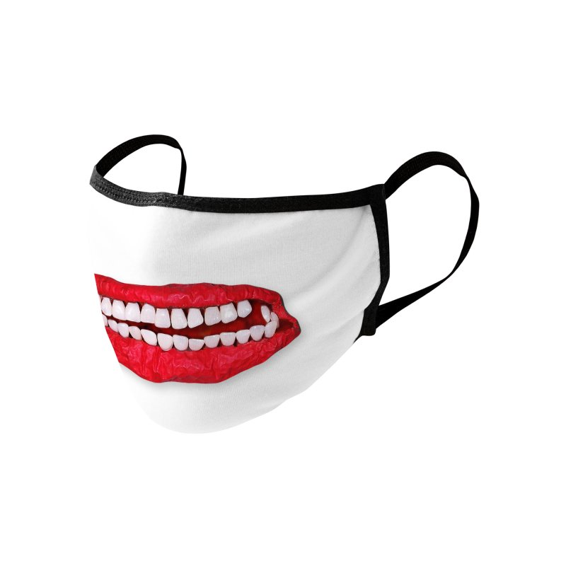 Toothy Lips Accessories Face Mask by DB Stevens' Shop