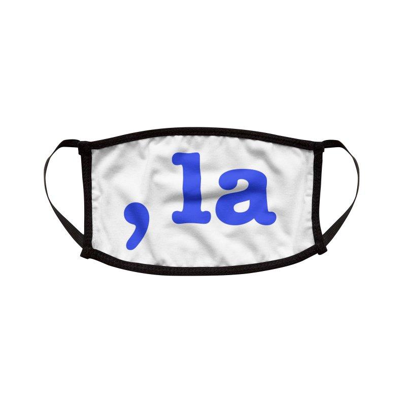 Comma la - Get it?  Visual Pun in blue Accessories Face Mask by DB Stevens' Shop