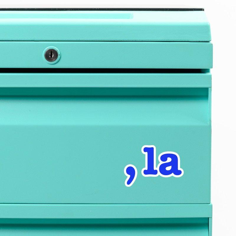 Comma la - Get it?  Visual Pun in blue Accessories Magnet by DB Stevens' Shop