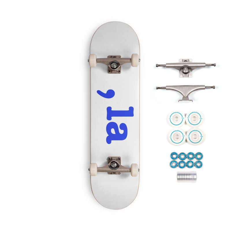 Comma la - Get it?  Visual Pun in blue Accessories Skateboard by DB Stevens' Shop
