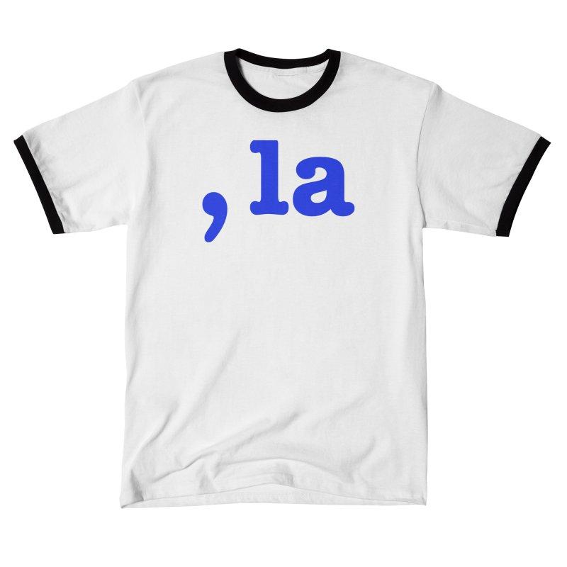 Comma la - Get it?  Visual Pun in blue Women's T-Shirt by DB Stevens' Shop