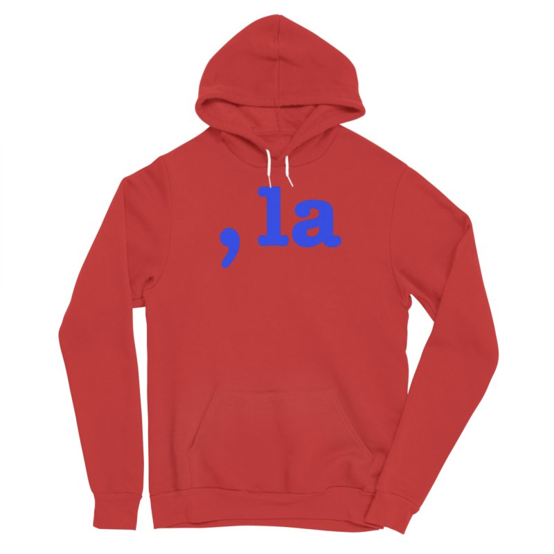 Comma la - Get it?  Visual Pun in blue Men's Pullover Hoody by DB Stevens' Shop