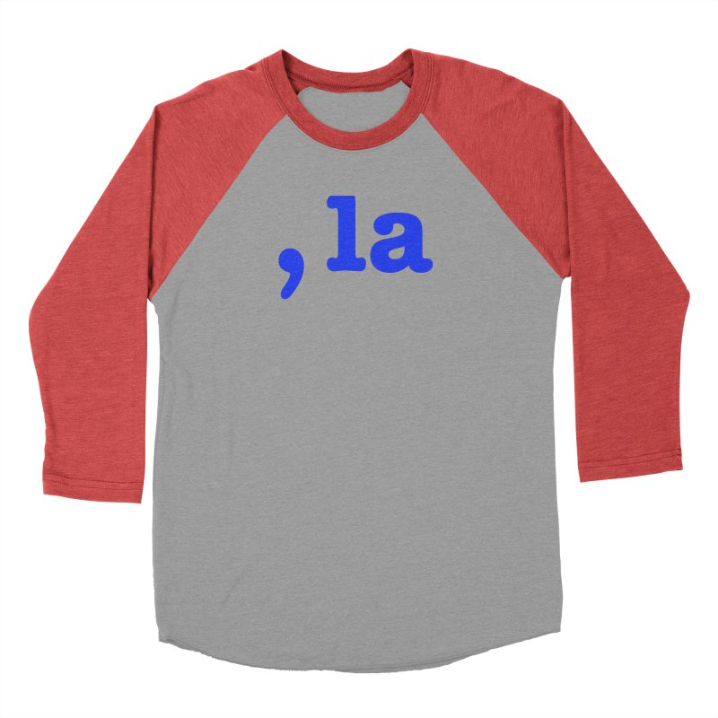 Comma la - Get it?  Visual Pun in blue Men's Longsleeve T-Shirt by DB Stevens' Shop