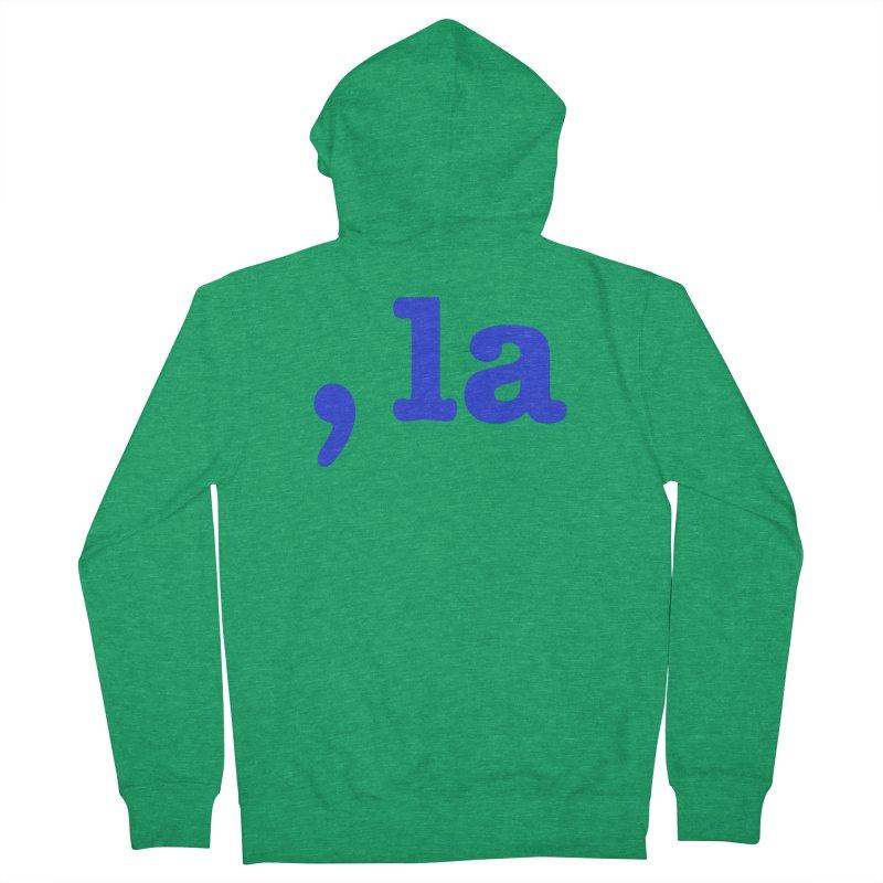 Comma la - Get it?  Visual Pun in blue Men's Zip-Up Hoody by DB Stevens' Shop