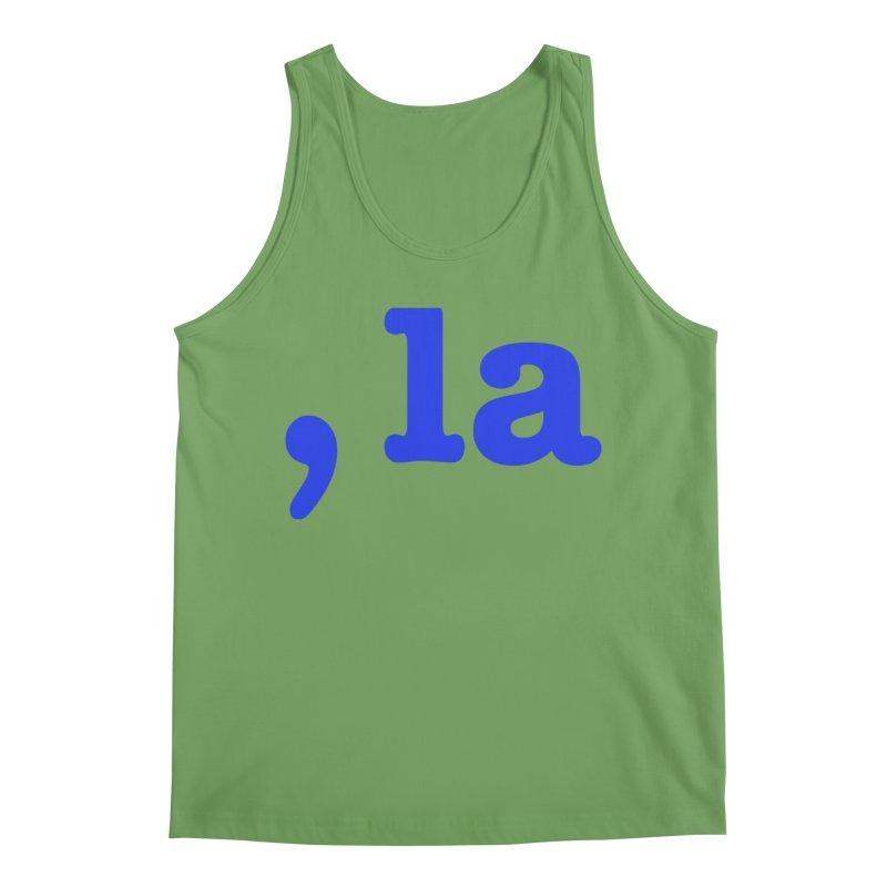 Comma la - Get it?  Visual Pun in blue Men's Tank by DB Stevens' Shop
