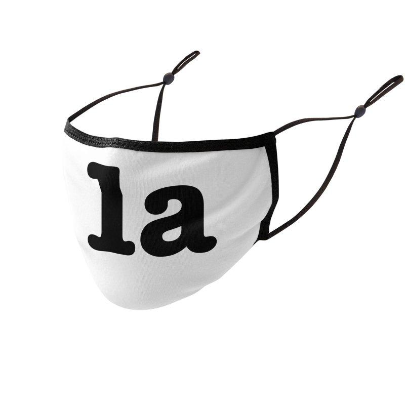 Comma la - Get it?  Visual Pun in black Accessories Face Mask by DB Stevens' Shop