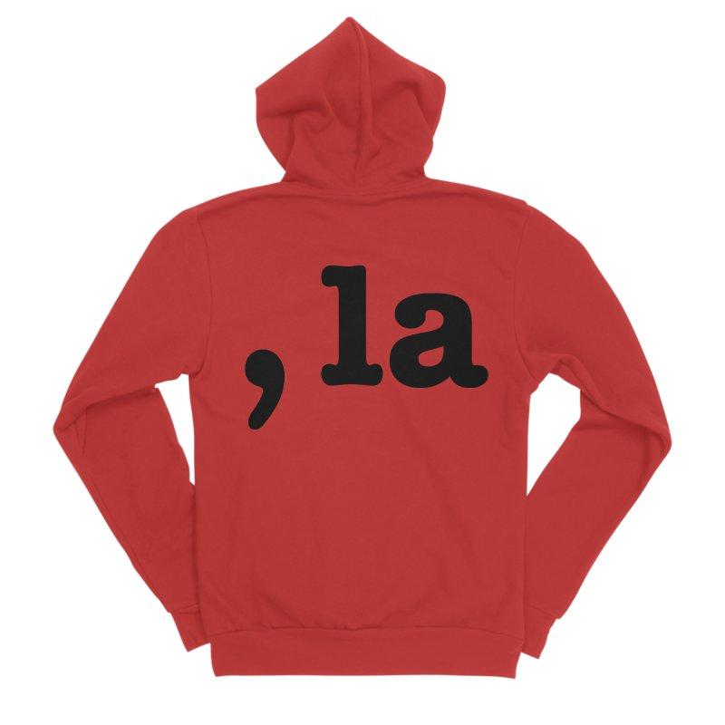Comma la - Get it?  Visual Pun in black Men's Zip-Up Hoody by DB Stevens' Shop