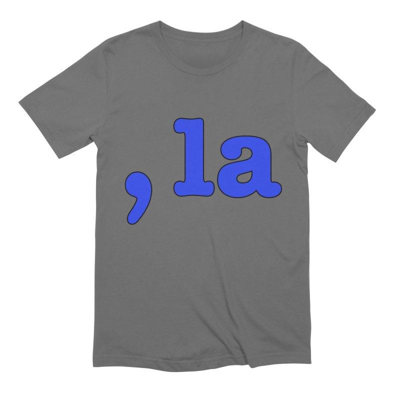 Comma la - Get it?  Visual Pun in blue with black outline Men's T-Shirt by DB Stevens' Shop