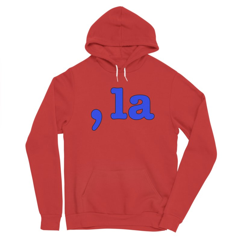 Comma la - Get it?  Visual Pun in blue with black outline Women's Pullover Hoody by DB Stevens' Shop