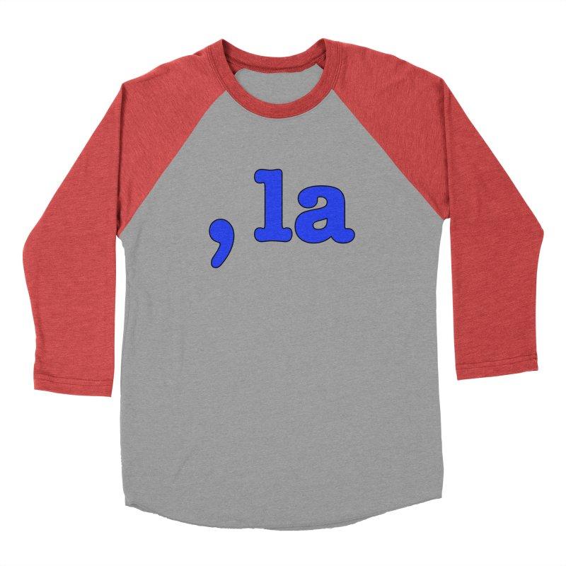 Comma la - Get it?  Visual Pun in blue with black outline Men's Longsleeve T-Shirt by DB Stevens' Shop