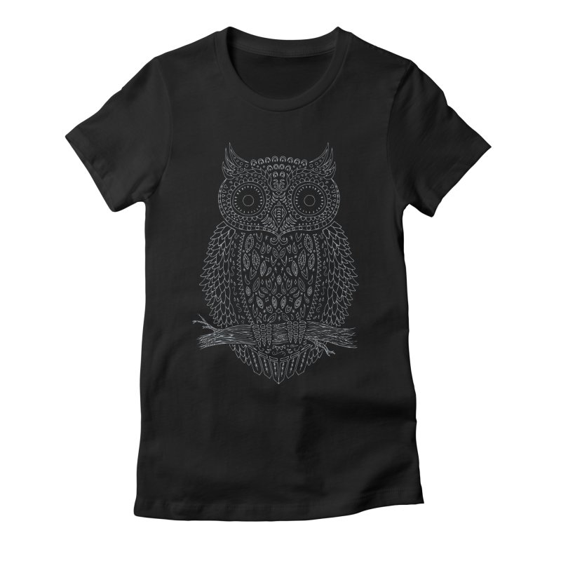 Hoot Women's Fitted T-Shirt by DCAY