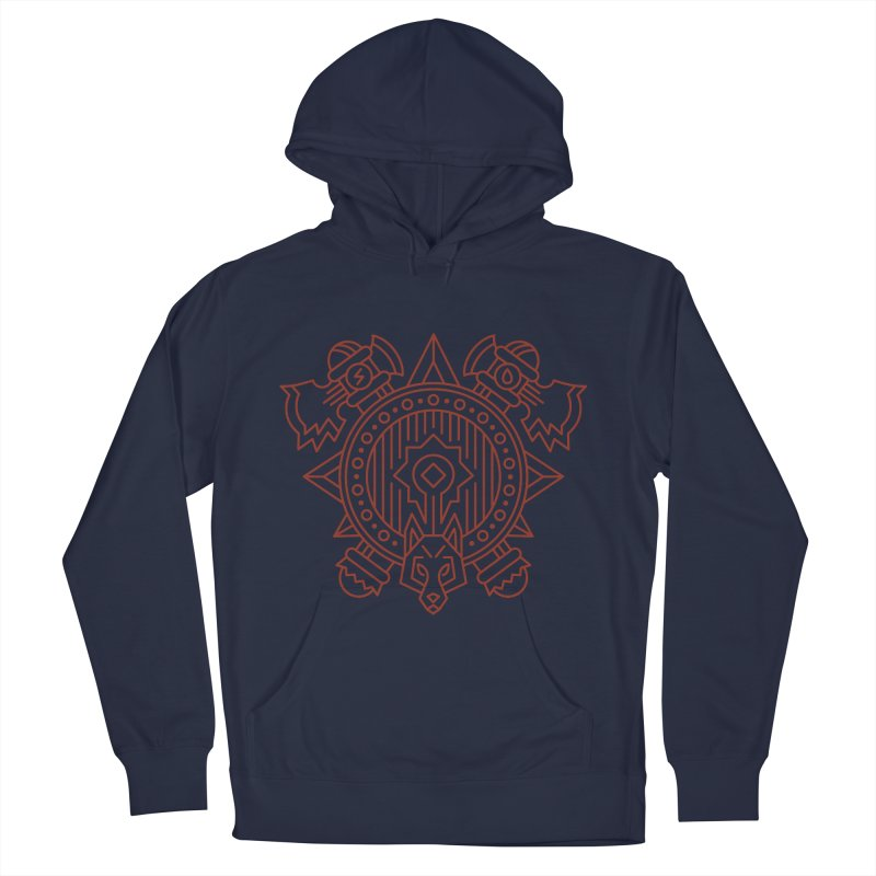 Orc - World of Warcraft Crest Men's French Terry Pullover Hoody by dcmjs