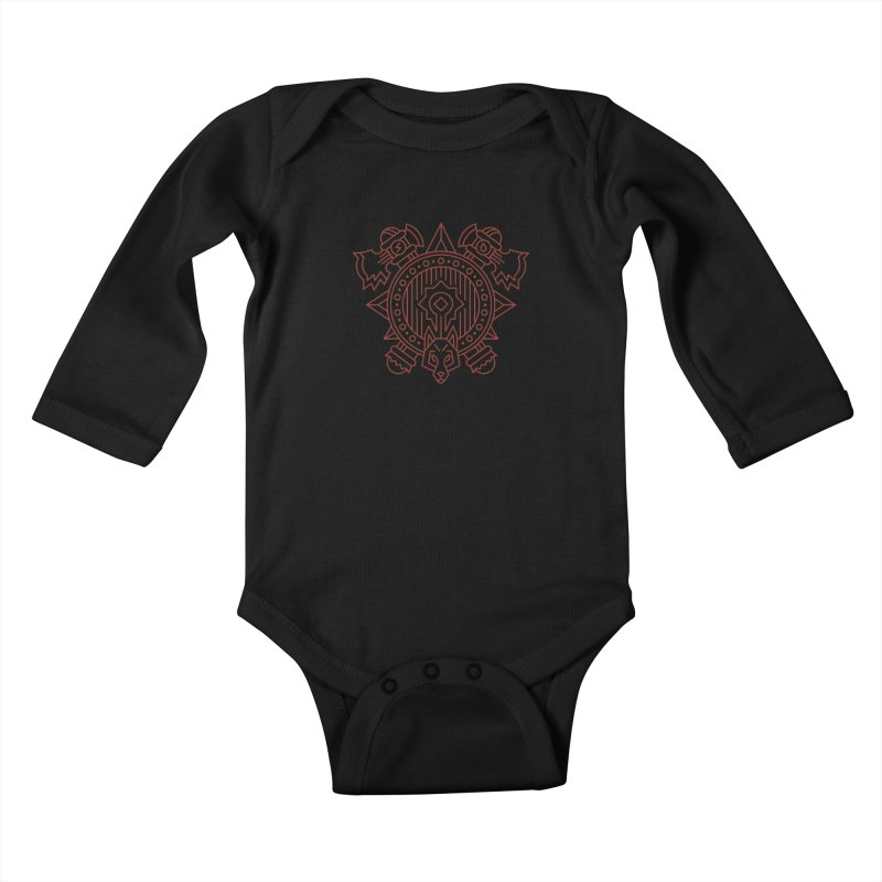 Orc - World of Warcraft Crest Kids Baby Longsleeve Bodysuit by dcmjs