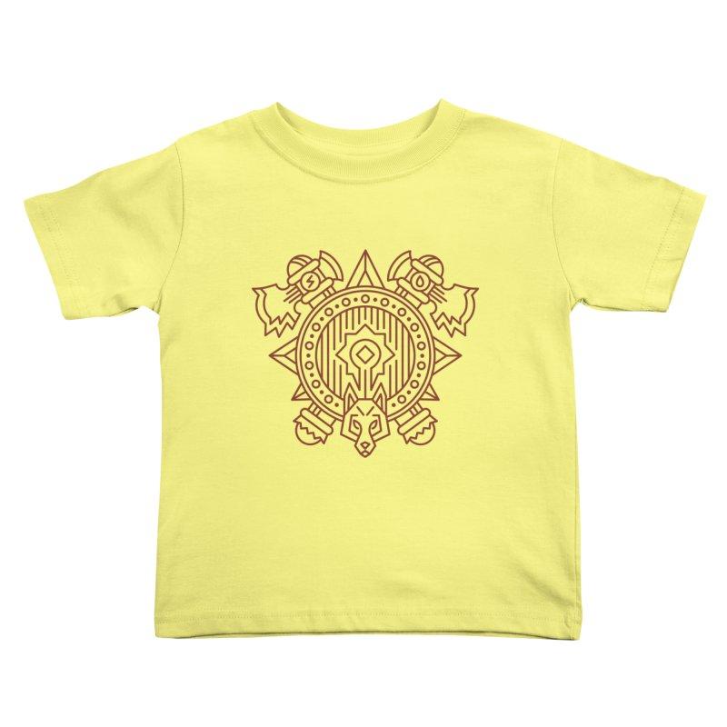 Orc - World of Warcraft Crest Kids Toddler T-Shirt by dcmjs