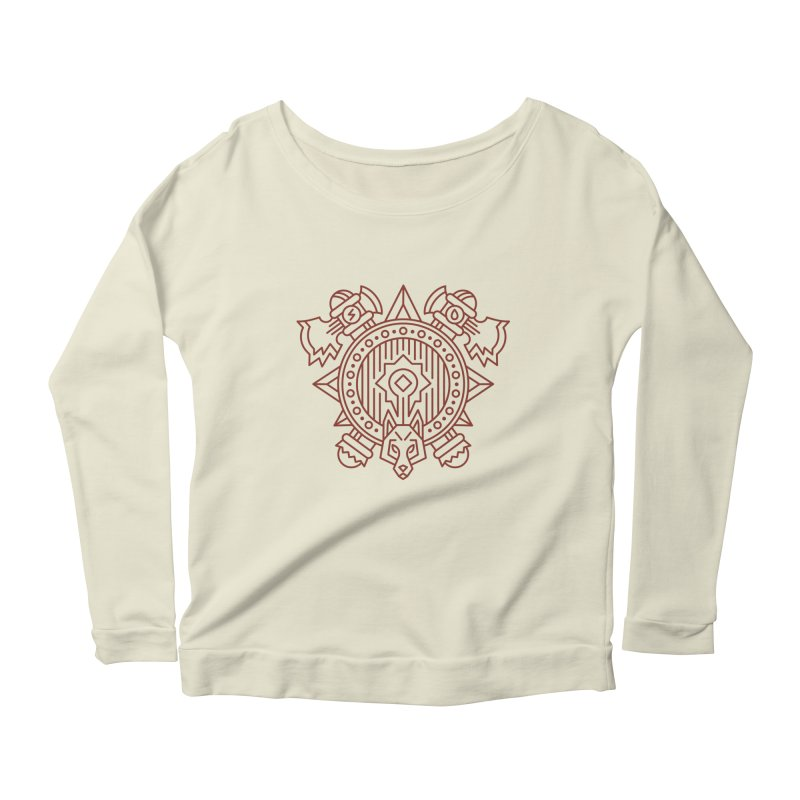 Orc - World of Warcraft Crest Women's Scoop Neck Longsleeve T-Shirt by dcmjs
