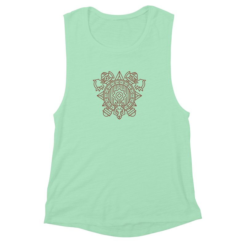 Orc - World of Warcraft Crest Women's Muscle Tank by dcmjs