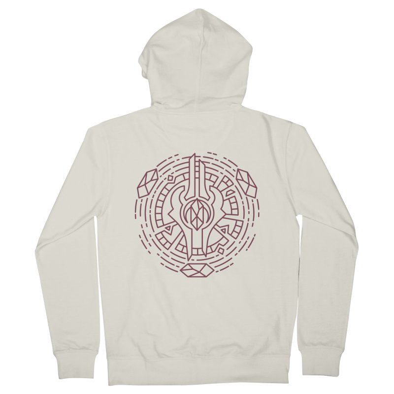 Draenei - World of Warcraft Crest Men's French Terry Zip-Up Hoody by dcmjs