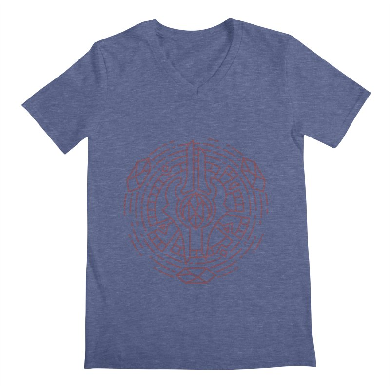 Draenei - World of Warcraft Crest Men's V-Neck by dcmjs