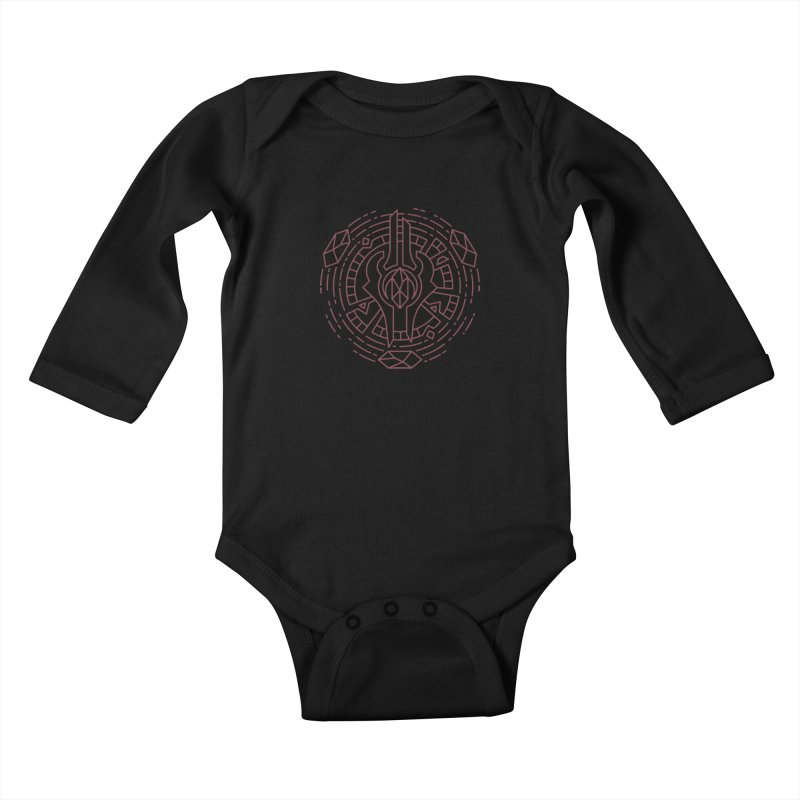 Draenei - World of Warcraft Crest Kids Baby Longsleeve Bodysuit by dcmjs
