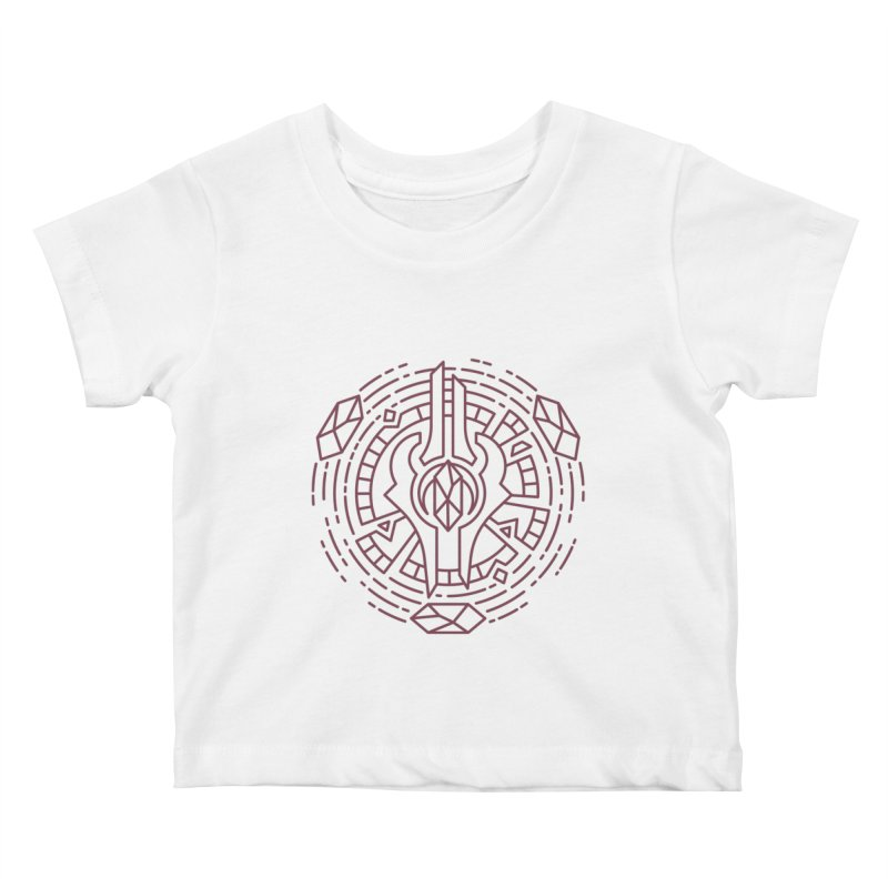 Draenei - World of Warcraft Crest Kids Baby T-Shirt by dcmjs