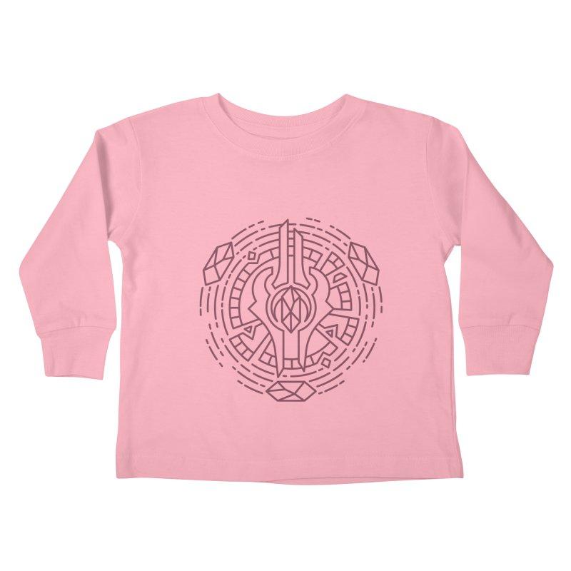 Draenei - World of Warcraft Crest Kids Toddler Longsleeve T-Shirt by dcmjs