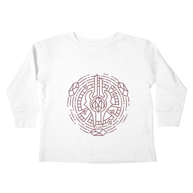 Draenei - World of Warcraft Crest Kids Toddler Longsleeve T-Shirt by dcmjs