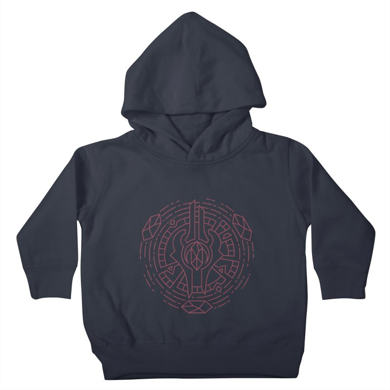 Draenei - World of Warcraft Crest Kids Toddler Pullover Hoody by dcmjs