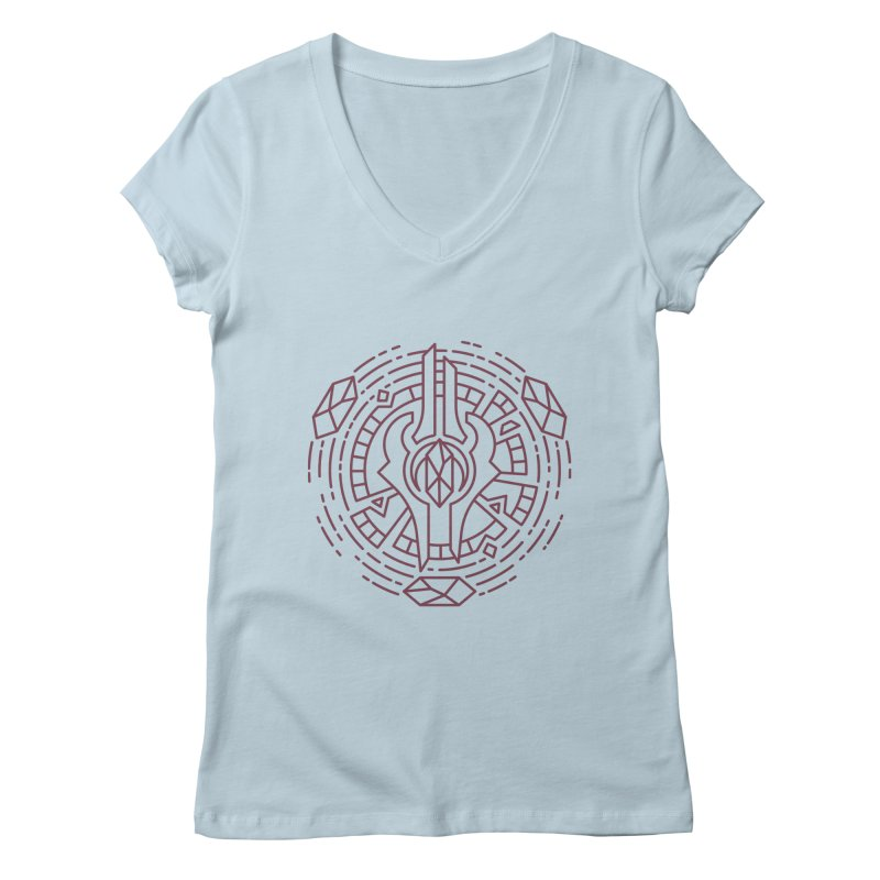 Draenei - World of Warcraft Crest Women's V-Neck by dcmjs