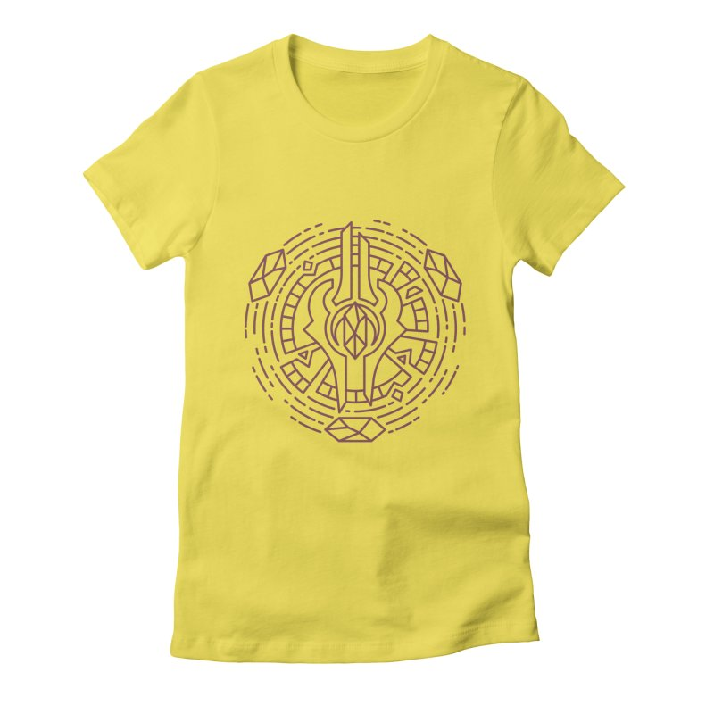 Draenei - World of Warcraft Crest Women's Fitted T-Shirt by dcmjs