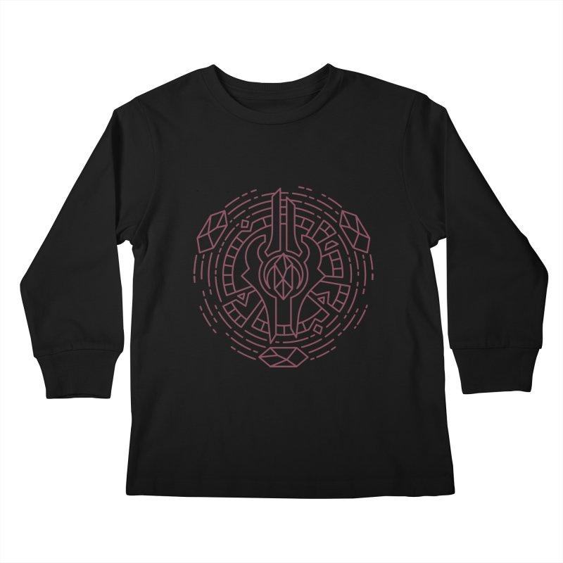 Draenei - World of Warcraft Crest Kids Longsleeve T-Shirt by dcmjs