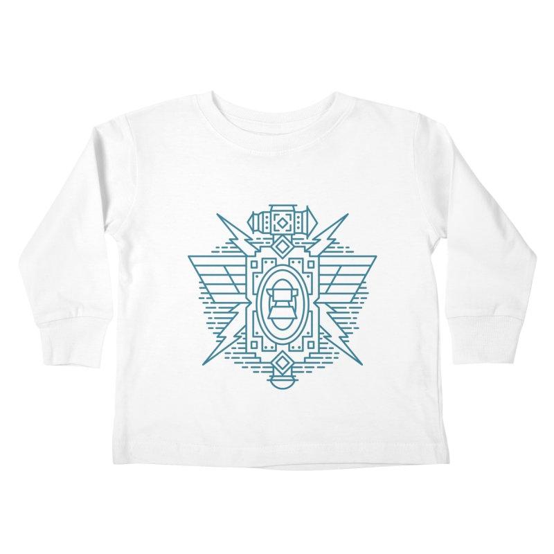 Dwarf - World of Warcraft Crest Kids Toddler Longsleeve T-Shirt by dcmjs