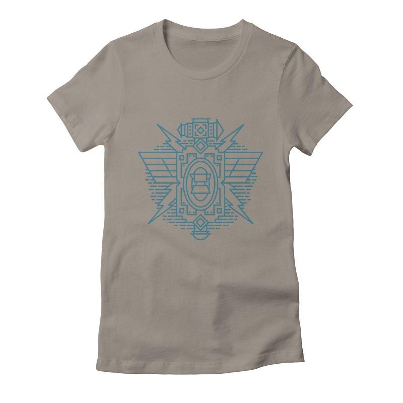 Dwarf - World of Warcraft Crest Women's Fitted T-Shirt by dcmjs