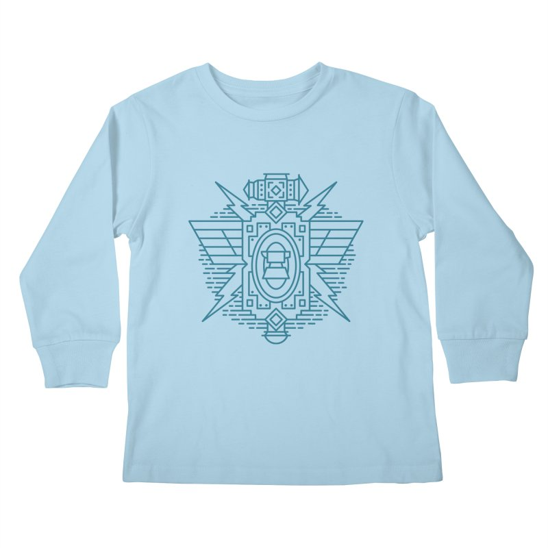 Dwarf - World of Warcraft Crest Kids Longsleeve T-Shirt by dcmjs