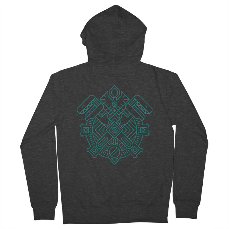 Gnome - World of Warcraft Crest Women's French Terry Zip-Up Hoody by dcmjs
