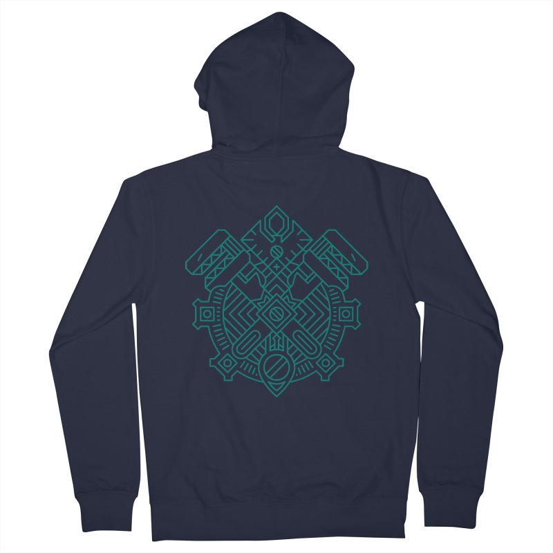 Gnome - World of Warcraft Crest Women's Zip-Up Hoody by dcmjs